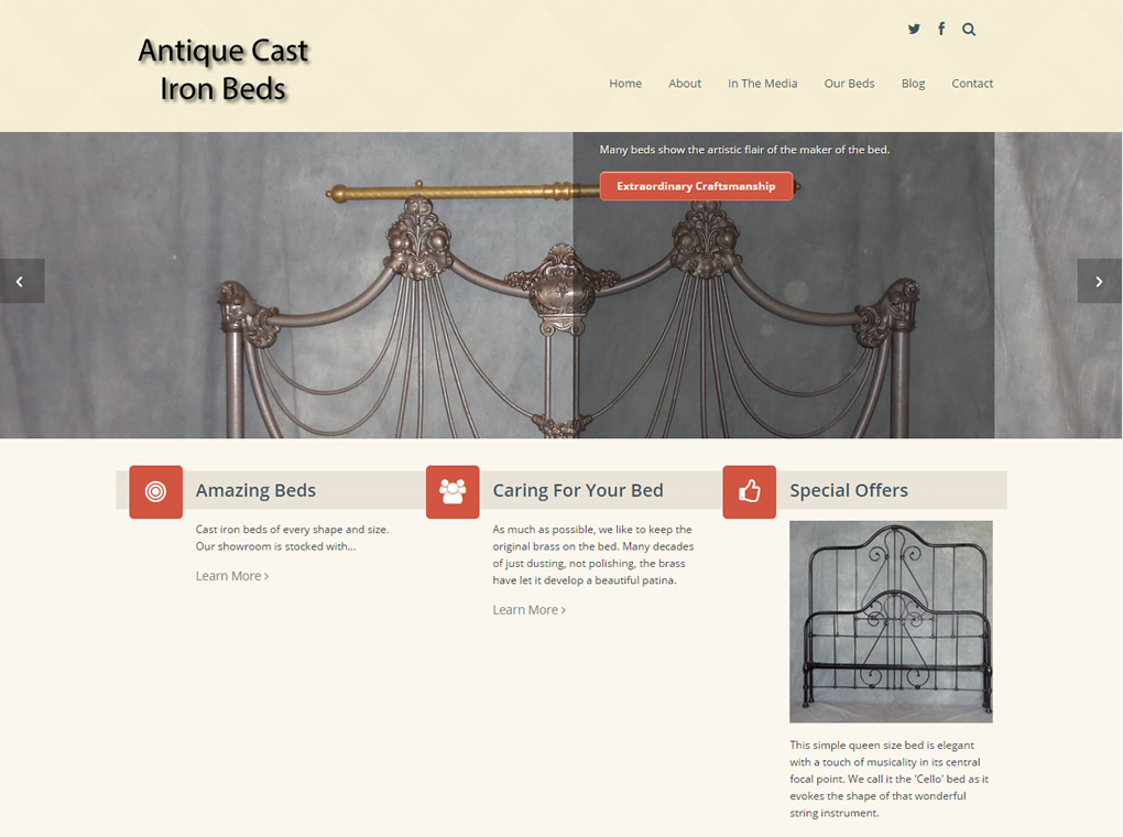 Antique Cast Iron Beds